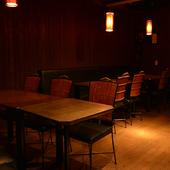 会社の歓送迎会や合コンなど、幅広いシーンにぴったりな空間