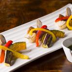 野菜の旨みを最大限にいかした『「海老原ファーム」炙り野菜』