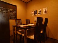 できたてのお食事をゆったりと楽しめるプライベートな空間も完備
