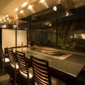 個室も完備。プライベート感を満喫できる空間です