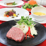 高級九州産黒毛和牛ステーキコース (国産牛フィレステーキ100g)