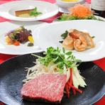 高級九州産黒毛和牛ステーキ&シーフードコース
