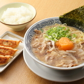 肉そば+餃子+ごはんの『(熟成醤油)肉そば・サービスランチ』