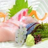 『季節のお造り盛り合わせ』は、瀬戸内のお魚を中心に