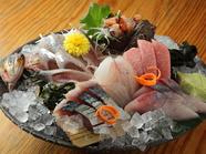 美味しい北陸の魚介をぜひ『お刺身盛り合わせ』