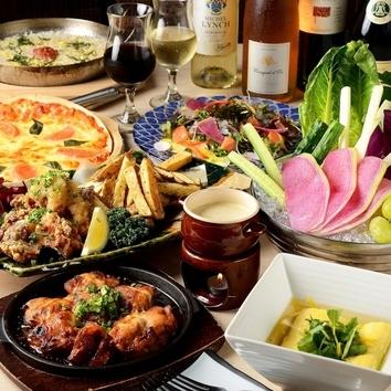 【~11月末】毎日3時間飲放題付/大判肉寿司×Wチキンフォンデュ