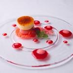 仙台苺のドルチェ クレーマカタラナを添えて