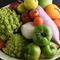 色とりどりの新鮮有機野菜