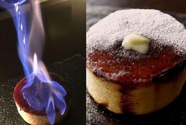 ほろ酔い 炎のパンケーキ【プレーン】&【バナナのせ】