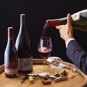 種類豊富なワイン。季節や料理に合わせたワインをソムリエが提案