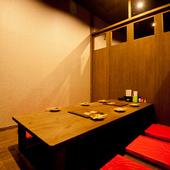 さまざまなグループで利用しやすい個室も種類豊富