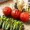 新鮮な国産野菜を備長炭で焼くことで野菜の甘みが引き出されます