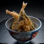 季節の天ぷら あわび