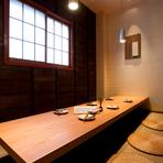 和風のモダンな空間と多彩な料理でおもてなし