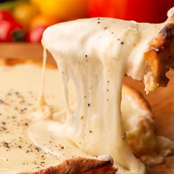 +500円でチーズフォンデュ食べ放題オリーブ人気メニュー「チーズフォンデュ」付きコース♪