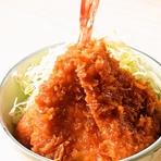 ミックス丼 (ヒレ肉2枚、えび1本)