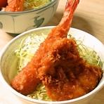 ミニミックス丼 (ヒレ肉1枚、えび1本)