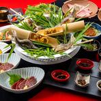 自慢の鍋をお好みで!ステーキをメインに前菜・お刺身・揚げ物とバランスの取れた一押しコースです。