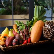 千葉のエコファームアサノや石川の高農園を始め、長野のアトリエ・ノマド、広島の梶谷農園など、全国の生産者から完熟野菜が届きます。身体に良い食材を選び、自然の旬に沿った無理をしないメニュー構成が特徴です。