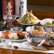 つやつやと輝く魚料理をはじめ、旬の食材を使用した名店の和食が味わえます。