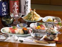 味の変化が楽しめる、季節感溢れる品々いっぱい『4000円コース』
