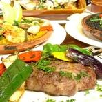 イベリコ豚の生ハムやイベリコ豚の炭火ステーキが入ったエルマンボ一押しコース!