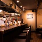 北海道の食材を数多く使用し、国産の食材を使って料理を提供している「緑提灯」のお店として緑の提灯を掲げています。