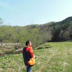 広大な自然!北海道らしい開けた自然が広がります。行者ニンニクは天然の山菜。収獲するのは、この写真のような環境です。