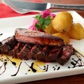 お肉の柔らかな食感『牛ハラミとファグラのタリアータ』