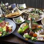 県外のお客様にオススメ!まるごと高知が食べられる鰹人自慢のおすすめコースです。