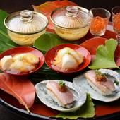 おまかせコースに組み込まれた日本料理