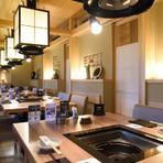 厳選された「神戸牛」のしゃぶしゃぶ・すき焼きは、特別な日にふさわしい贅沢なメニュー。接待や会食、家族のお祝いの席など、美味しい牛肉を囲むひと時を、水入らずの空間でゆっくりと過ごせます。