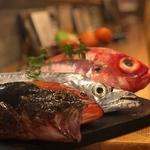 長浜市場よりその日仕入れた鮮魚を使った鍋。めったに食べれない鮮魚もございませのでスタッフへお尋ねください。980円~