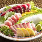 その日の鮮魚の『刺身盛合せ』は1人前からでもお願いできます