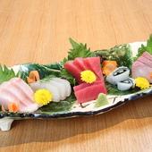 知多の旬の魚や野菜をふんだんに使った『板長おまかせコース』