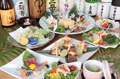 3000円から1000円単位で予算に応じて料理をご用意します。+2000円で飲み放題にできる、板長おまかせコース