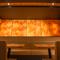 お料理の色・形を引き立てる、落ち着いた和紙の間接照明の空間
