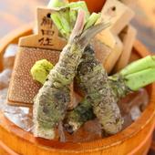 静岡県産の本ワサビを使用しています