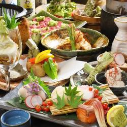 3500円/飲放題付5000円 旬の味覚で季節を感じるコース!昼網鮮魚や名物の霜降り牛タンの山葵焼も味わえる♪