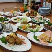 1人から大勢の方向けに小、中、大と各料理で提供が可能!!