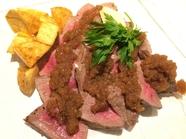 短角牛赤味300gステーキ 和風オニオンソース