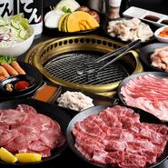 黒毛和牛「タン」、「カルビ」、三重県産の豚、鶏、野菜など、バランス良く組み込まれています。〆のお茶漬けを含めて全12品。お腹いっぱいになること請け合いの、満足感のあるコース。お得感いっぱいです。