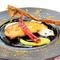 ■コースの中の魚料理 スぺシャリテ 「鮎のファルシ バジルとズッキーニのピュレ ベーコンのカプチーノ