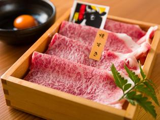 レアでとろけるような食感を楽しみたい『米沢牛 焼きすき』