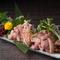 おいしい鶏はシンプルに味わいたい『鶏タタキの3種盛り』