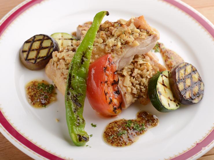 鶏肉と蜂蜜くるみのオーブン焼き