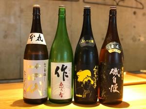 ●厳選された日本酒  焼酎