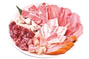 ホルモン系からタン、ロース、カルビまで楽しめるお得なセット。好みの別のお肉との交換も可能です。