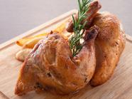 ガッツリ鶏肉を食べたいなら『ロティサリーチキン(ハーフ)』
