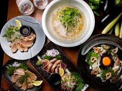 あさり出汁で河内鴨・大山豚の串しゃぶ・春野菜をお楽しみください!